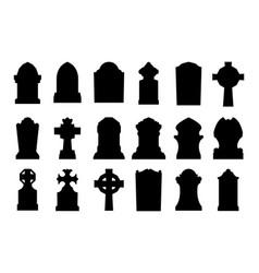 gravestone set vector image