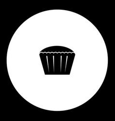 great cupcake simple black and green icon eps10 vector image