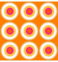 halftone circles background vector image