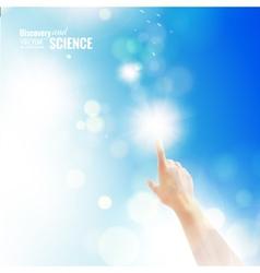 Hand of human vector image