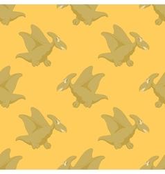 Happy flying dinosaur vector image