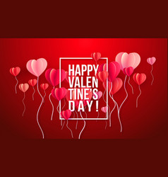 happy valentines day card paper art vector image