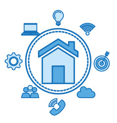 home page web internet technology social and vector image