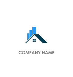 home realty graph business logo vector image