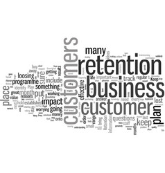 How to keep customers for life vector