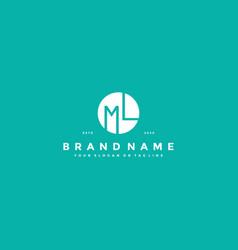 Letter ml logo design vector