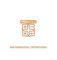 Mathematical operations concept 2 colored icon vector