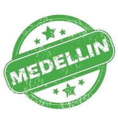 Medellin green stamp vector