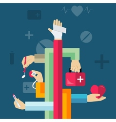Medical Hands Concept vector