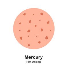 Mercury flat vector