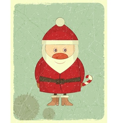 Merry Christmas Vintage card with Santa Claus vector image