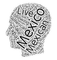 Mexico Expat Quiz text background wordcloud vector
