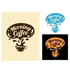 morning coffee icon vector image