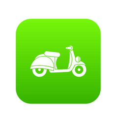 Motorbike icon digital green vector
