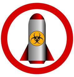 No biohazard rocket vector