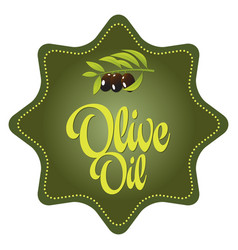 olive oil tag vector image