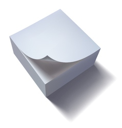 Paper stack with curl vector image