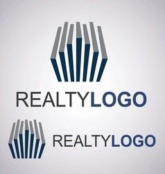 realty logo 4 3 vector image