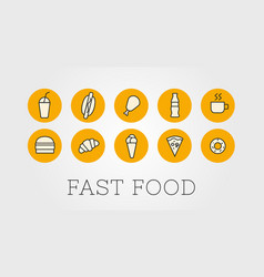 Set outline or icons for a fast vector