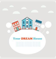 small town background postcardbanner design vector image