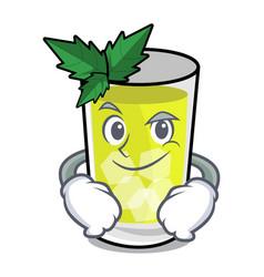 Smirking mint julep character cartoon vector