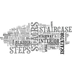 Stairs word cloud concept vector