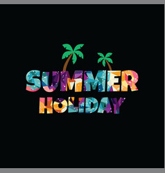 Summer holiday abstract colorful triangle vector