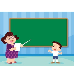 teacher and studen vector image