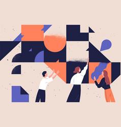 Teamwork concept flat vector