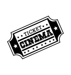 Ticket cinema movie icon vector