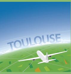 Toulouse flight destination vector