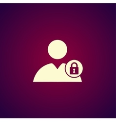 User icon lock icon vector image