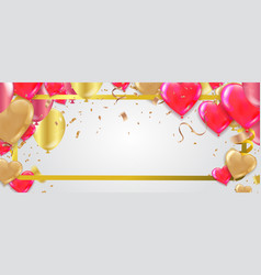valentines background with blur hearts greeting vector image