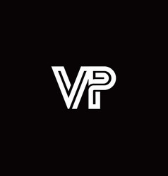 Vp monogram logo with abstract line vector