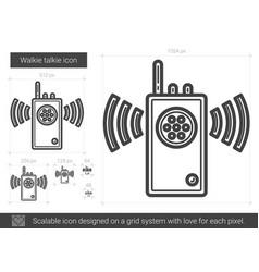 walkie talkie line icon vector image