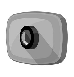 webcam icon in monochrome style isolated on white vector image