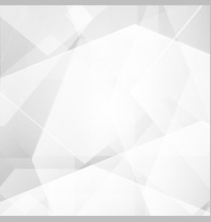 white and gray color polygon abstract background vector image