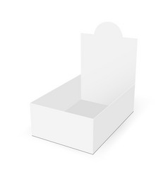 White blank cardboard display box vector
