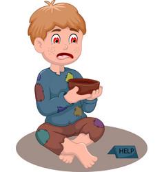 beggar man cartoon vector image