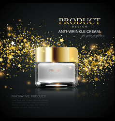 cosmetics product ads vector image vector image