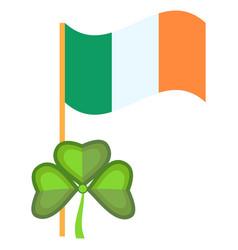 ireland flag patriotism sign national banner vector image
