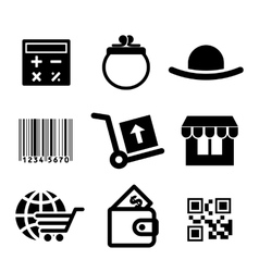 Shiopping icons set vector image vector image