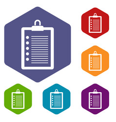 to do list icons set vector image
