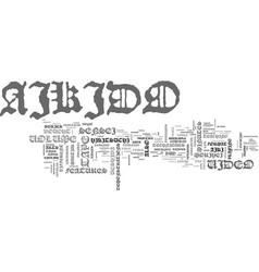 Aikido video text word cloud concept vector