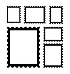 blank postage stamps vector image