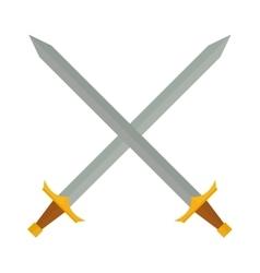 Cross swords vector image