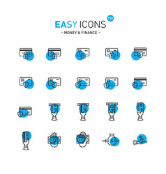 easy icons 12d money vector image vector image