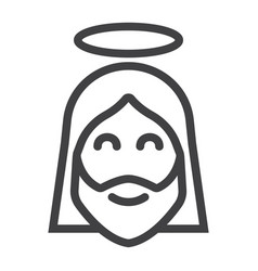 jesus line icon easter and holiday christ sign vector image vector image