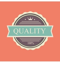 quality stamp vector image