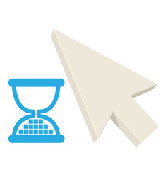 Timing pointer icon cartoon style vector